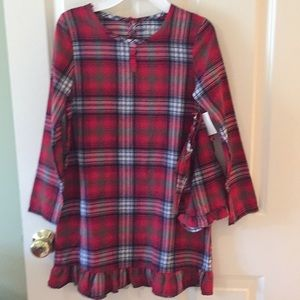 Christmas plaid flannel nightgown